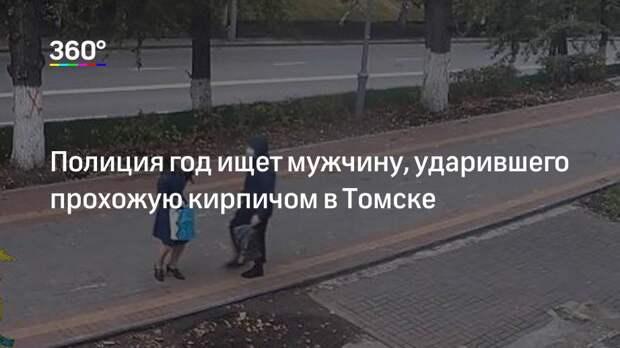 Полиция год ищет мужчину, ударившего прохожую кирпичом в Томске