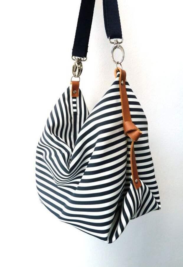 Сумки и рюкзаки в полоску (идеи)