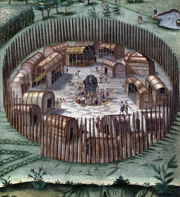Схема форта на Роанок.
