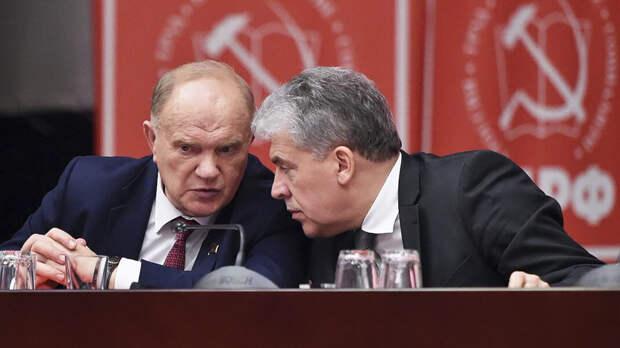 Зюганов объяснил снятие Грудинина с выборов «примитивным жульничеством злобного паразита»