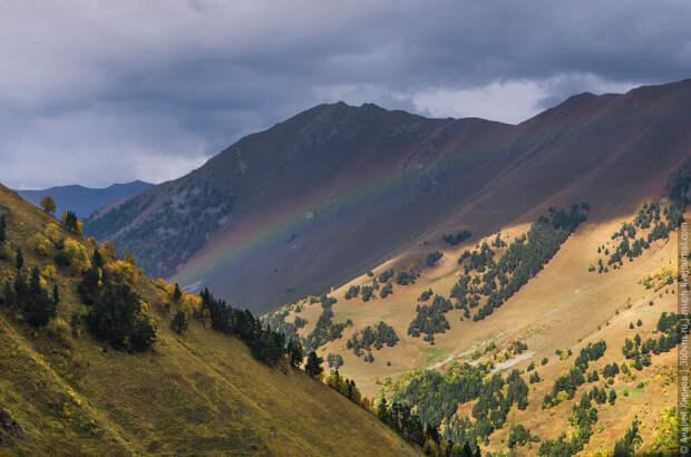 Радуга после дождя в горах Архыза