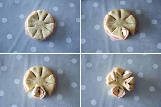 Булочки с колбасой DIY