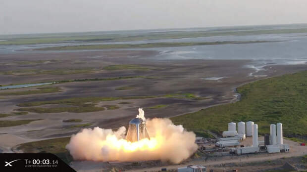 Пожар на звездолете SpaceX