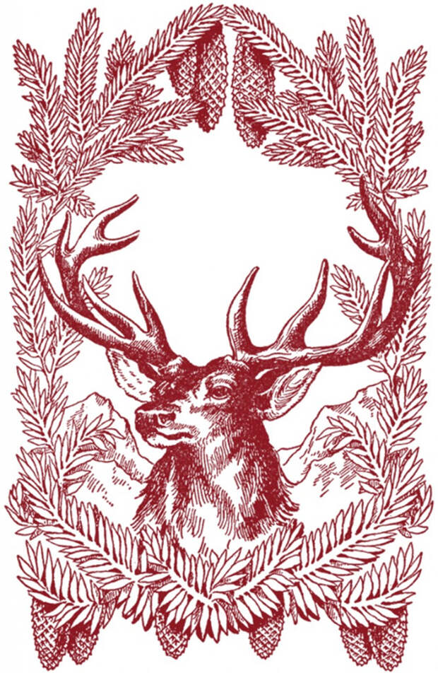 Vintage-Christmas-Deer-Images-GraphicsFairy-red-667x1024 (455x700, 473Kb)