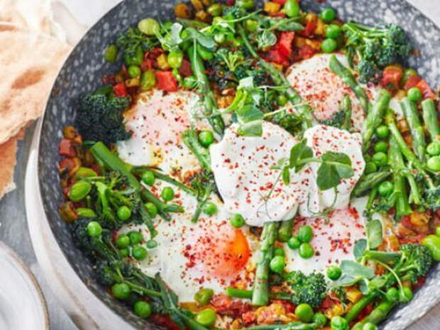 Рецепт шакшуки из гороха и фасоли – прекрасный вариант обеда для всей семьи