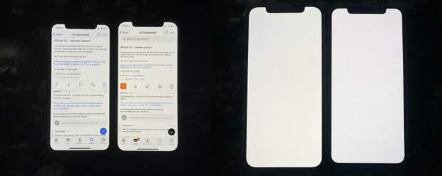 Владельцы iPhone 12 жалуются на желтоватый экран. Apple понизила требования к качеству?