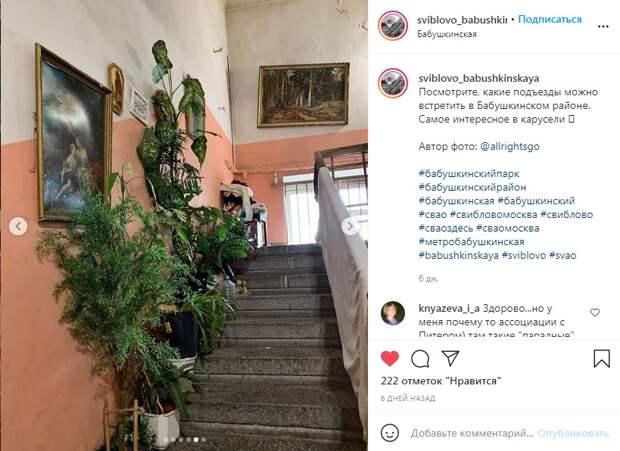Фото дня: винтажный подъезд в одном из домов Бабушкинского
