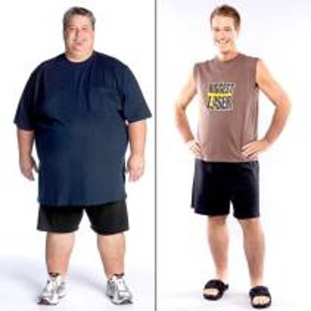 "До и после: Дэнни Кэхилл - рекордсмен реалити-шоу ""The Biggest Loser"" 2009"