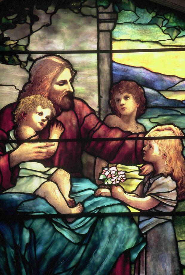 """Витраж """"Иисус Христос и дети"""""""