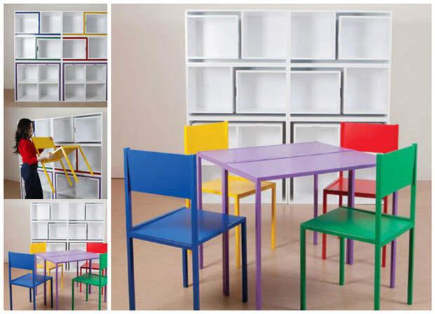 Из шкафчиков в столы и стулья важное, дизайн, полезное, экономия