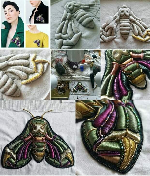 Креативная вышивка в современном стиле (трафик)