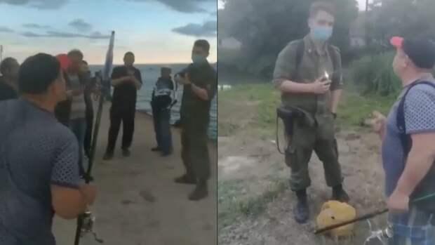 Выяснились подробности случая в Крыму, где пограничник пригрозил задержанием рыбакам