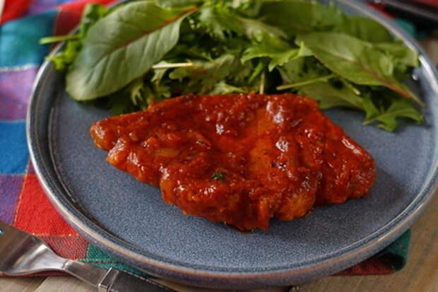 Вкусное мясо алла-пиццайола