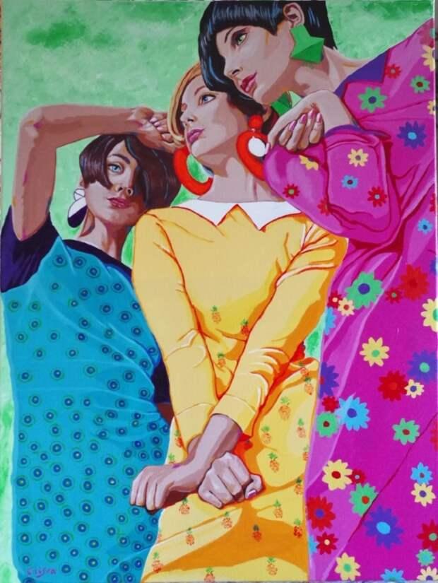 Яркие цвета. Christelle Vaesken