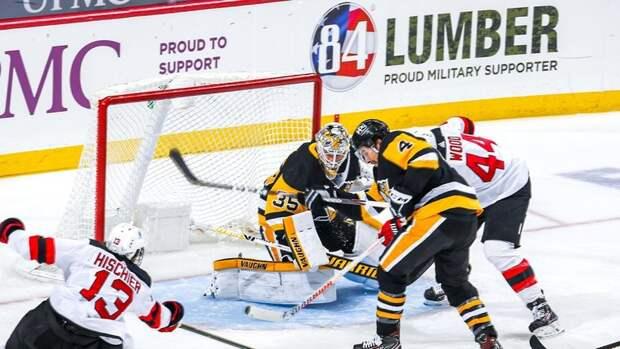 «Питтсбург» вошел висторию НХЛ после матча с «Нью-Джерси»