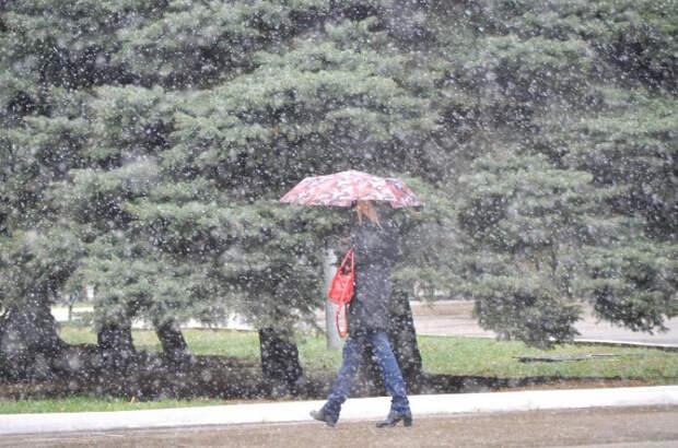 На Кубань вернется мокрый снег и дожди