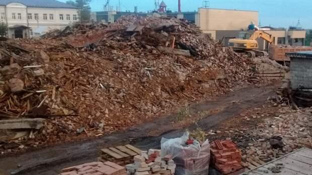 На Яицкой в Оренбурге начали уничтожать старинные дома