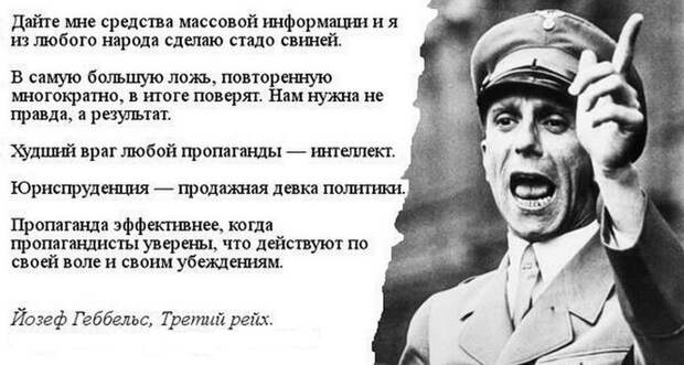 Дмитрий Светин : Методы доктора Геббельса на службе у пропагандистов DW