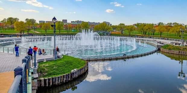 Собянин открыл сезон фонтанов в Москве Фото: М. Денисов mos.ru