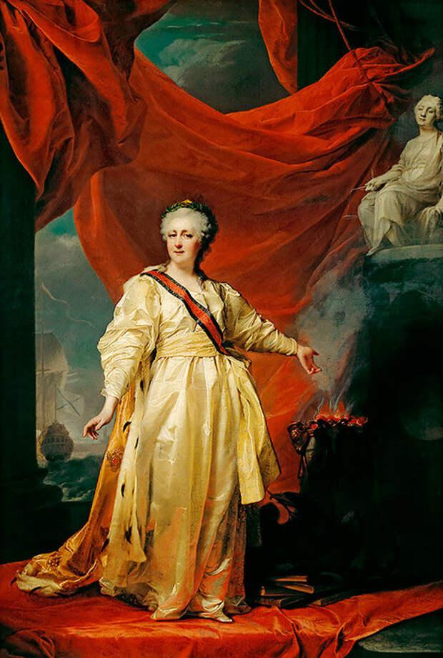 Екатерина II— законодательница вхраме Правосудия (Левицкий Д. Г., 1783 год, Русский музей, Санкт-Петербург)