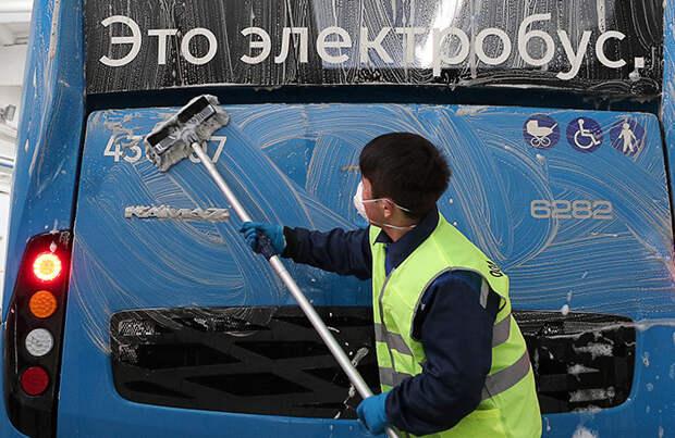 В Москве впервые сгорел электробус