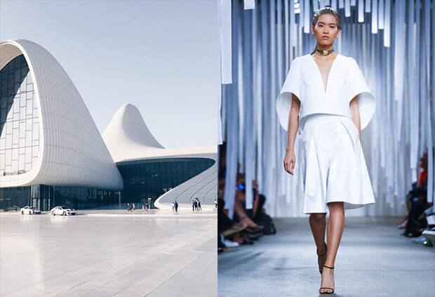 Близость взаимоотношений моды и архитектуры. Лучшие примеры и тренды.