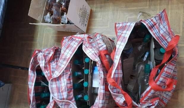 НаМАПП «Сагарчин» вАкбулакском районе изъяли 56 литров контрабандного алкоголя