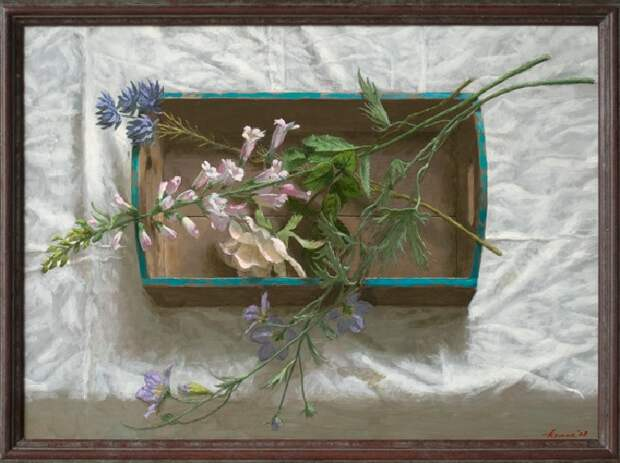 Ткань с цветами. Живопись от Kenne Gregoire.