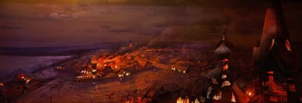 Ижевск, спалённый пожаром