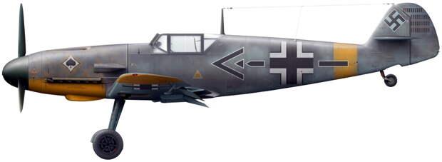 Bf 109F-2 – персональный самолёт командира эскадры майора Гюнтера фон Мальцана, лето 1941 года (художник Владимир Камский). - Вынужденные драться? С удовольствием! | Военно-исторический портал Warspot.ru