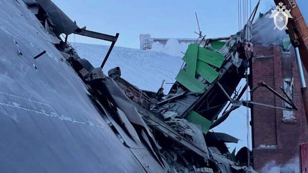 Названа причина обрушения в цеху на фабрике в Норильске