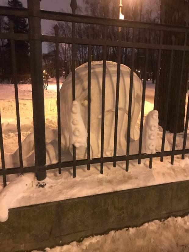 необычный снеговик фото