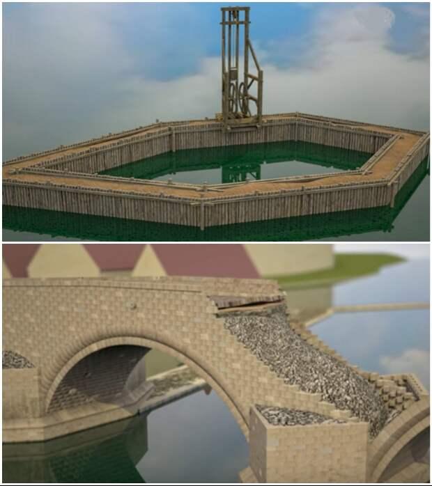 Цифровая модель строительства Карлова моста создана в рамках проекта Praha Archeologicka. © praha-archeologicka.cz.