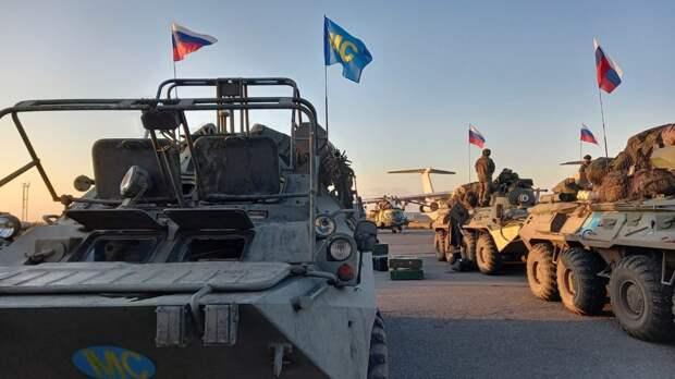 Миротворцы ВС РФ отпраздновали День Победы в Нагорном Карабахе