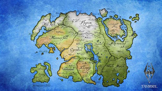 6. Мир The Elder Scrolls. Несуществующие миры, карты, фэнтези