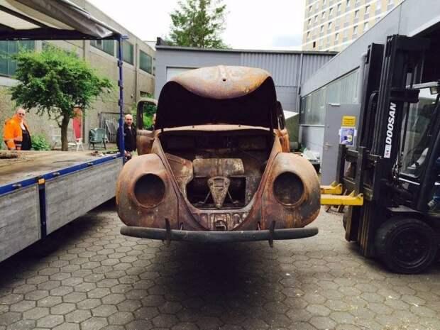 Самый старый в мире Volkswagen Beetle полностью сгорел, но был восстановлен авто, автомобили, восстановление, реставрация