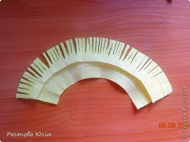 Мастер-класс Свит-дизайн Моделирование конструирование Магнолия Мой первый МК Бумага гофрированная Нитки фото 7