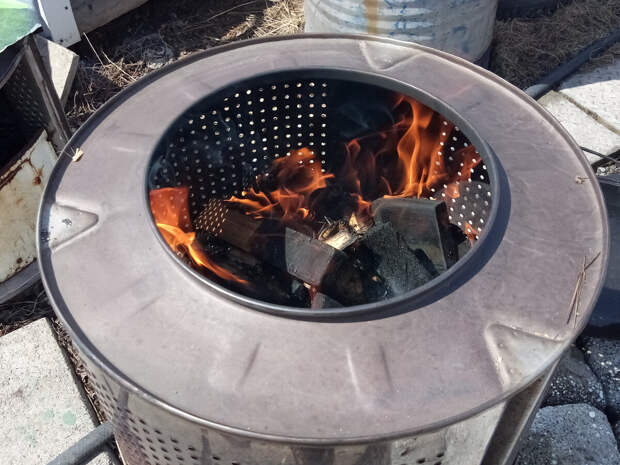Готовим шурпу из баранины на барабане от стиральной машины!
