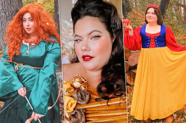 Большие принцессы: девушки плюс сайз перевоплощаются вдиснеевских героинь