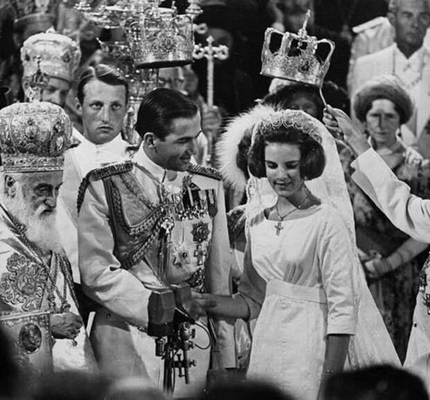 Свадьба короля Греции. Невеста 18-летняя датская принцесса Анна Мария