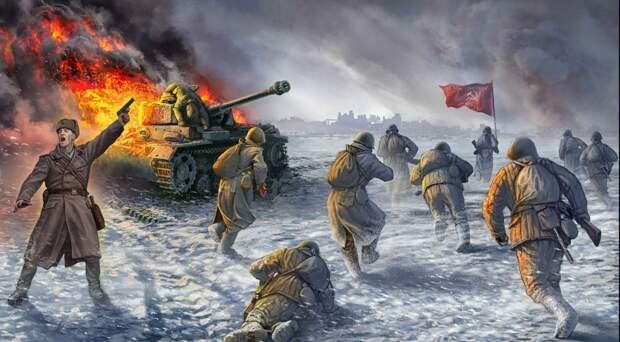 контратака советской пехоты