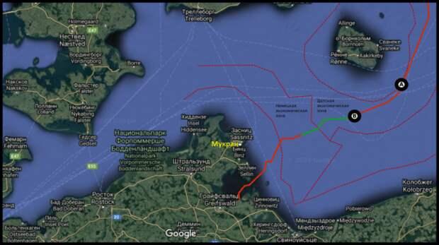 Баржа «Фортуна» достроила половину датского участка «Северного потока-2»