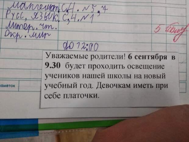 Российских школьников «осветили» перед новым учебным годом