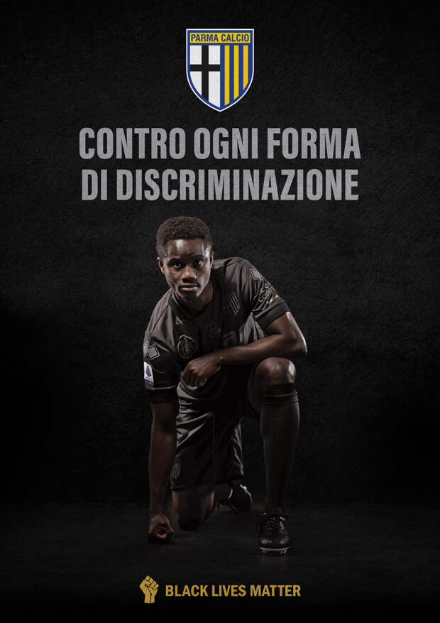 «Парма» в знак поддержки BLM выйдет в черной форме на матч с «Сассуоло»
