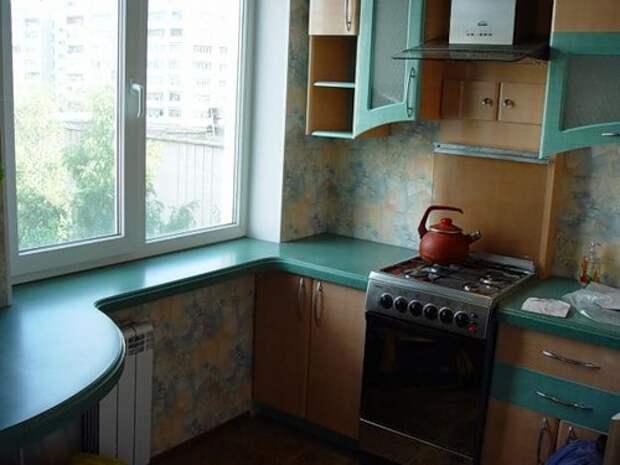 Улучшаем интерьер кухни 6 кв м, полезные советы