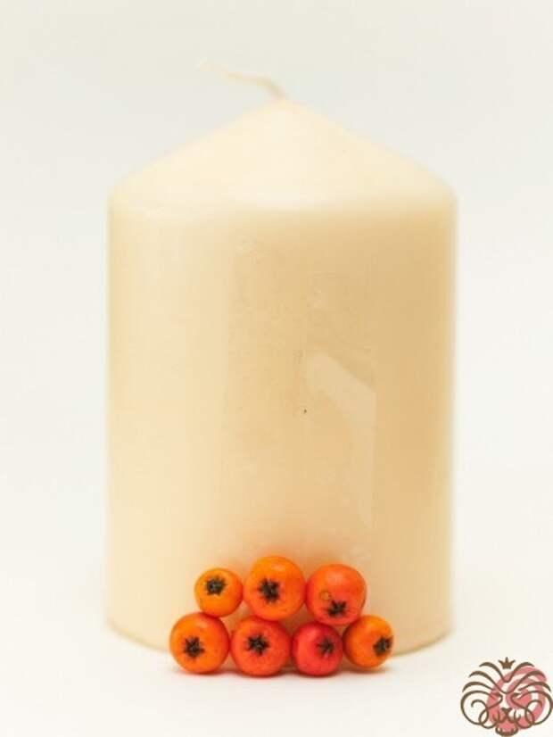 Свечи с натуральным декором (Diy)