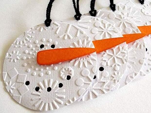 Зимние поделки-снеговики
