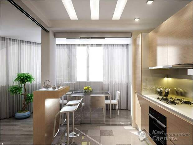 Как совместить кухню и столовую