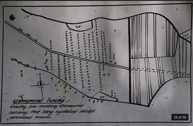 Загадочные каменные ряды Коунова в Чехии