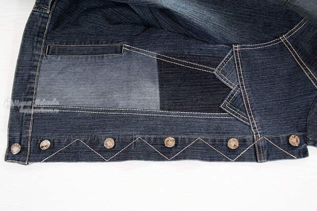 Модная джинсовка своими руками
